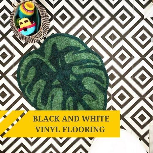 Black and White Vinyl Flooring Ideas