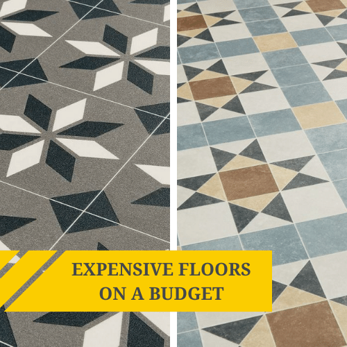 How to create an expensive looking floor on a budget
