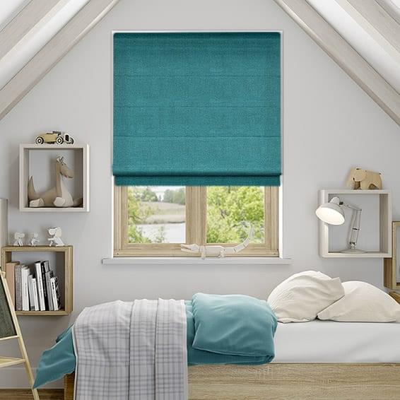 Teal Roman Blinds from Blinds2go
