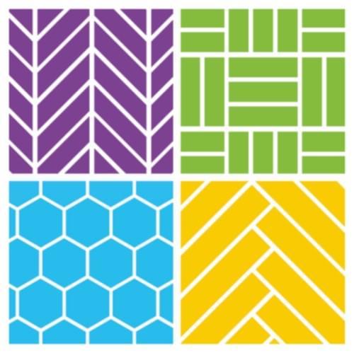 Patchwork Tile Effect Sheet Vinyl Flooring Grigio