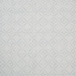 Cement Tile Design Cushioned Vinyl Flooring Sheet Aquamarine Blue