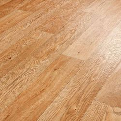 Thick Wood Efffect Sheet Vinyl Flooring In Oak Design With Textured Finish