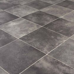 tudor mansions audley stone dark charcoal tile effect sheet vinyl flooring with felt backing for kitchens, dining rooms and bathrooms