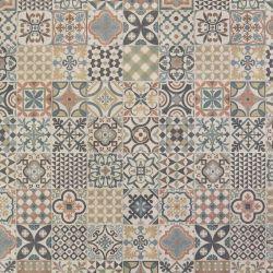 Black And White Bertie Tile Design Vinyl Flooring Sheet For Kitchens And Bathrooms