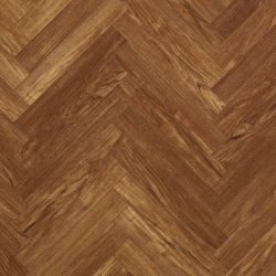 rustic oak design herringbone laminate flooring planks with bevelled edges for use in living rooms, bedrooms and dining rooms chateau teak brown