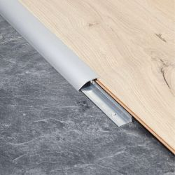 berry alloc silver reducer ramp profile for transition between laminate, tiled and vinyl floors