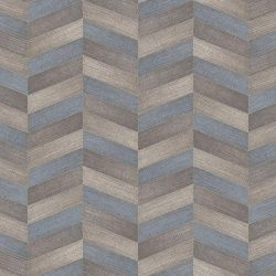 blue chevron tile effect vinyl flooring sheet in textile design