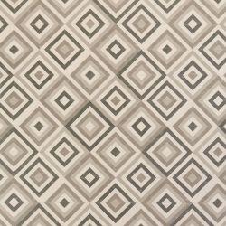 Astral Cassini Blue, White And Grey Star Tile Design Vinyl Flooring Sheet Lino