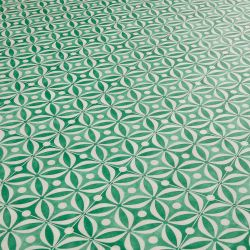 Green Cement Tile Effect Sheet Vinyl Flooring
