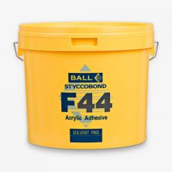 F44 15 Litre Solvent Free Acrylic Adhesive In Yellow Tub For Sheet Vinyl And Lvt Floor Products