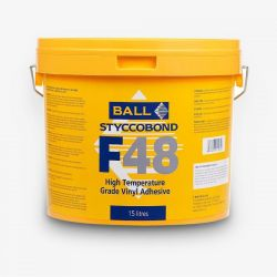 Ball And Young High Temperature Adhesive F48 In 15 Litre Size For Use With Vinyl Flooring Sheet And Tiles