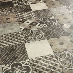 mixed tile design vinyl flooring sheet for dining room, bedroom and kitchen floors