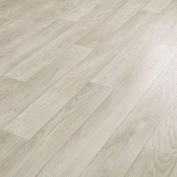 cushion vinyl flooring sheet lino in light grey and white wood effect design