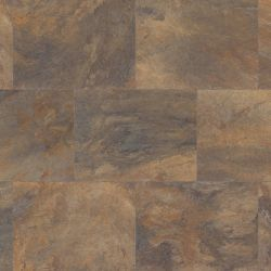 Dark Brown And Copper Rectangle Luxury Vinyl Floor Tiles For Bathrooms Karndean Art Select Melbourne Lm05