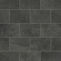 Karndean Knight Tile ST15 Black Riven Slate Luxury Vinyl Floor Tiles