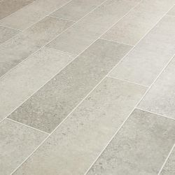 Light Grey Terrazzo Tile Effect Vinyl Flooring Sheet With Felt Backing