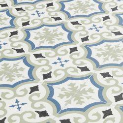 Spanish Tile Effect Cushion Vinyl Flooring Sheet Lucia