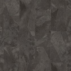 Dark Grey Moduleo Impress Click Mustang Slate 70948 Rectangle Stone Effect Lvt Tiles For Residential And Commercial Use