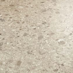 grey terrazzo design vinyl flooring sheet with large chippings