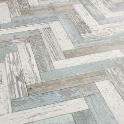 Herringbone Cushioned Vinyl Flooring Sheet Pacific Painted Wood Sample