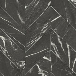 chevron tile design cushioned vinyl flooring lino in black marble design
