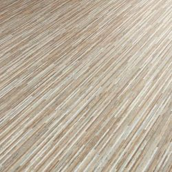 Brown And Silver Striped Vinyl Flooring Sheet With Foam Backing Skinny Latte
