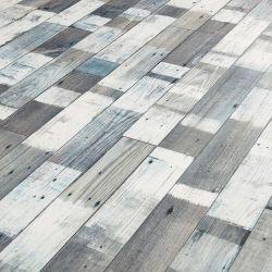 Cushion Vinyl Flooring Sheet Snow Painted Wood Sample
