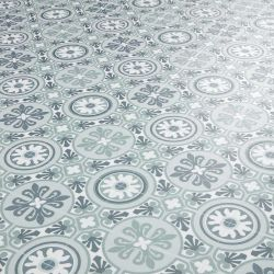 Green Grey White Moroccan patterned Sheet Vinyl Flooring for Kitchens and Bathrooms Tangier 08