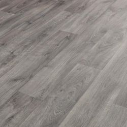 Light Grey Natural Wood Effect Sheet Vinyl Flooring Tavel 581