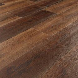 dark brown rustic wood effect click lvt flooring planks for bedroom, kitchen and bathroom floors arabica driftwood