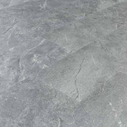 grey highland slate water resistant luxury vinyl floor tiles with underlay attached and bevelled edges