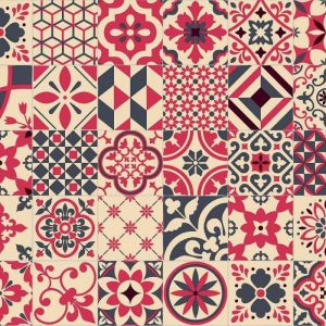 Portuguese Azulejos Tile Design Sheet Vinyl Flooring Faro