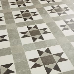 Tessellated Victorian Geometric Vinyl Flooring - ERA Armstrong