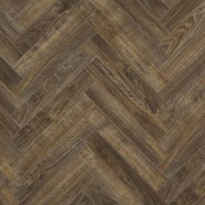 dark antique brown wood effect laminate flooring planks in parquet design for use in hallways, kitchens and bedrooms java brown