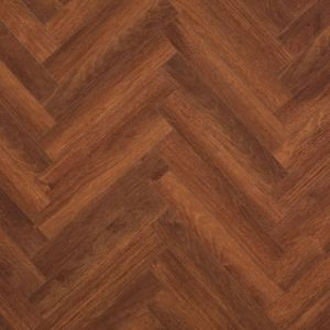 berry alloc chateau merbau brown wood effect parquet laminate flooring with red and brown tones for use in living rooms, hallways and cafes