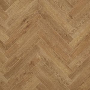 berry alloc chateau herringbone laminate flooring with v groove edges for use in kitchens, bathrooms and offices texas light brown