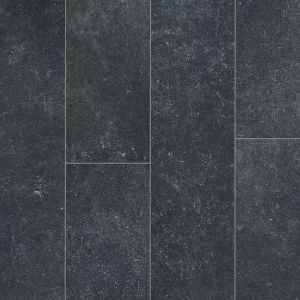 dark charcoal grey stone effect laminate flooring with bevelled edges and etched concrete finish berry alloc ocean