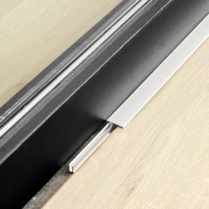 berry alloc silver end profile for finishing laminate flooring around door edges, fireplaces and walls