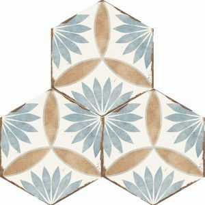Bohemia Hexagon Wall and Floor Tiles - Miranda