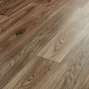 Brown Oak Wood Plank Design Vinyl Flooring Sheet In 4Mm Thickness
