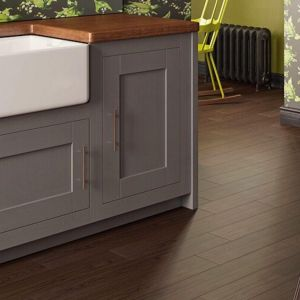 brown wood effect stick down lvt planks for kitchen, hallway and bathroom installations.