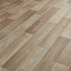 light grey wood effect cushioned vinyl flooring sheet lino for kitchens and bathrooms