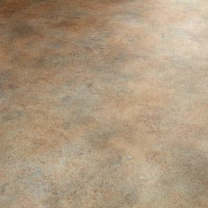 polished concrete design vinyl flooring in metallic bronze effect for kitchens and bathrooms