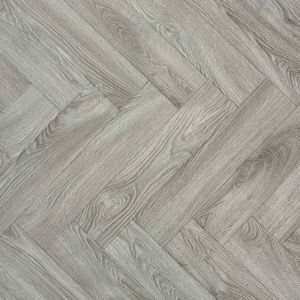 Eltham Parquet Wood Effect Vinyl Flooring Sheet For Hallways, Dining Rooms And Kitchen With Felt Backing