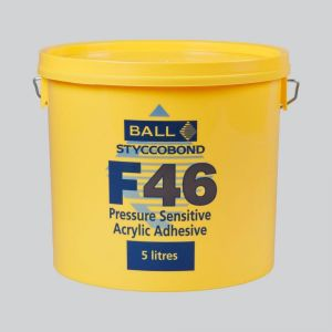 Ball And Young Pressure Sensitive F46 Adhesive For Use With Vinyl Floorcoverings In 5 Litre Size