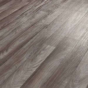 Dark Grey Textured Sheet Vinyl Flooring For Kitchen And Bathroom Floors