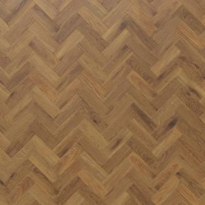 Medium Oak Wood Effect Lvt Planks In Small Herringbone Design With Bevelled Edges Karndean Ap06