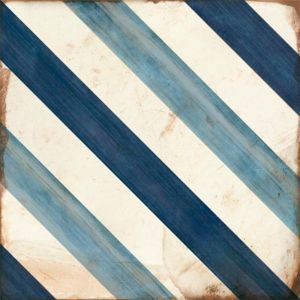 Elyria Diamond Geometric Wall And Floor Tiles In Blue And White For Kitchens And Bathrooms