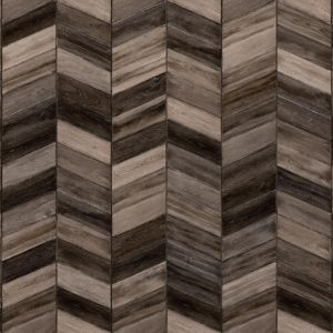 Impress Glue Down Bohemian 61974 Fishbone Tile Design Lvt Planks In Dark Brown Oak With Bevelled Edges