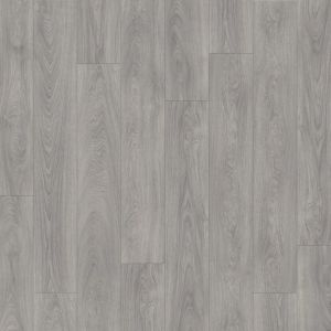 Medium Grey Click Together Vinyl Flooring Planks With Embossed Surface Finish Laurel Oak 51942